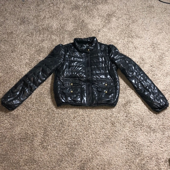 Maralyn & Me Jackets & Blazers - Black puffy jacket